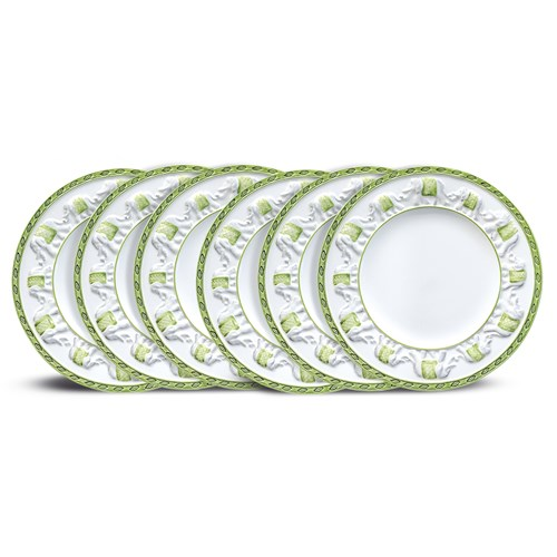 Green Elephant Salad/Dessert Plates Set of Six  sc 1 st  Scully u0026 Scully & Green Elephant SaladDessert Plates Set of Six | More China | China ...
