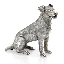 Sterling Silver Sitting Jack Russell Figurine
