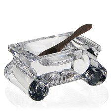 William Yeoward Crystal June Salt Dish & Spoon