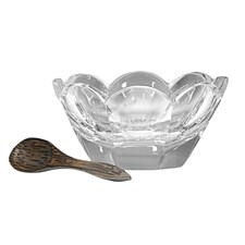 William Yeoward Crystal Lottie Salt Dish & Spoon