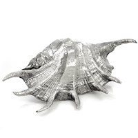 Sterling Plated Large Spiky Conch Shell