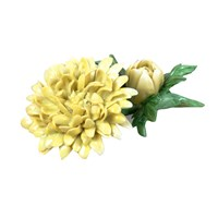 Porcelain Yellow Chrysanthemum Table Decoration