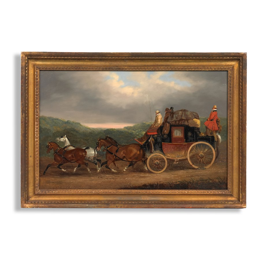 The edinburgh to london royal mail coach painting for Home accessories london