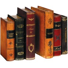 Italian Leather Books Bookends