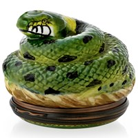 "Halcyon Days ""Snake"" Enamel Box"