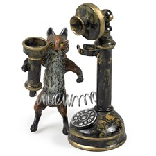 Austrian Bronze Fox with Telephone