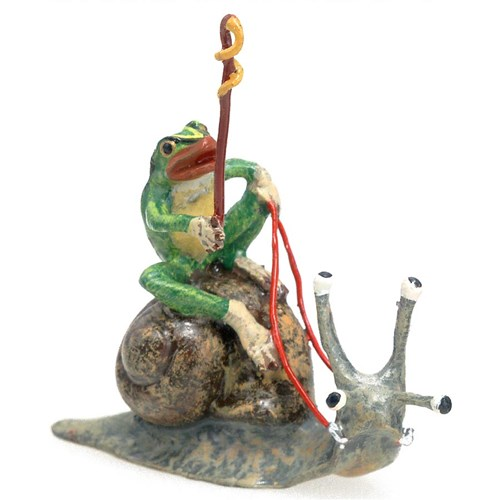 Austrian Bronze Frog at Snail's Pace Small Figurine