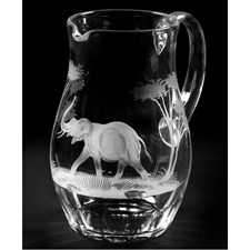Queen Lace Water Pitcher with Elephant