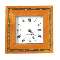 Brown Golf Marquetry Mantel Clock
