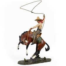 Bronze Cowboy on Horseback, Small