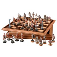Romans and Egyptians Chess Set