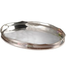 Silverplated Pierced Oval Tray