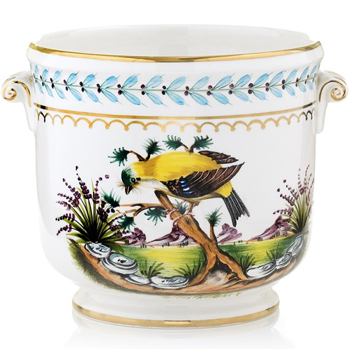 Yellow Bird Large Cachepot
