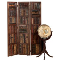 Leather Book Motif Screen