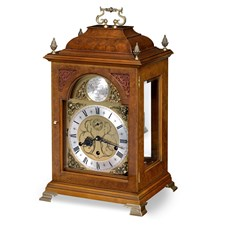 Walnut Queen Anne Table Clock Large