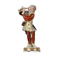 Porcelain Musician with Trumpet