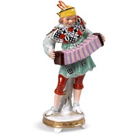 Porcelain Musician with Concertina