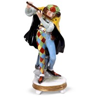 Porcelain Musician with Flute