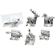 Sterling Silver Animal Place Card Holders