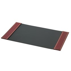 Double Line Leather Desk Pads