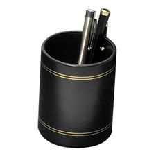 Double Line Leather Pencil Cups