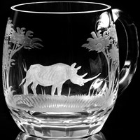 Queen Lace Beer Mug Kenyan Wildlife
