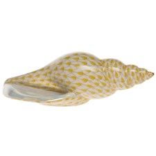 Herend Long Narrow Sea Snail Figurine
