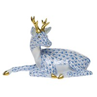 Herend Lying Buck Figurine