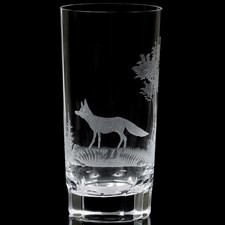 Queen Lace Crystal Highball Glasses American Wildlife