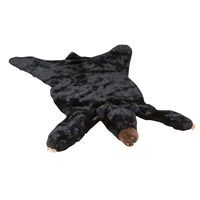 Faux Black Bear Rug