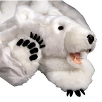Faux White Polar Bear Rug