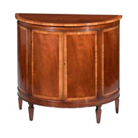 Mahogany Demi-Lune Commode