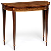 D-Shaped Mahogany Console Table