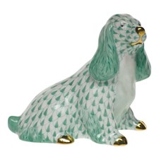 Herend Spaniel Sitting Figurine