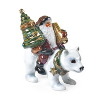 Santa on Polar Bear Limoges Box