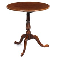Spiral Mahogany Circular Table