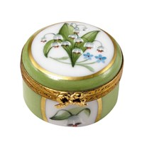 Lily of the Valley Mini Round Box