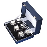 Sterling Silver Napkin Rings Boxed Set of Six