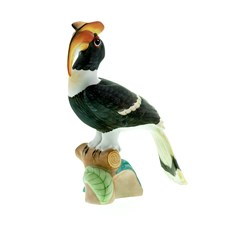 Herend Natural Hornbill Figurine