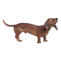 Austrian Bronze Large Dachshund Brown Figurine