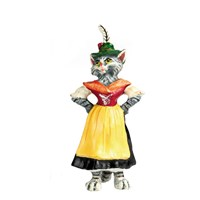 Austrian Bronze Tyrolian Cat Girl Figurine