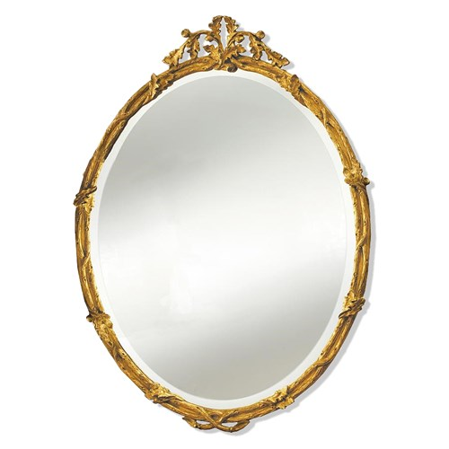 Acorn Oval Gold Mirror