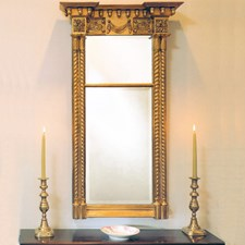 Twisted Column Mirror with Acorns