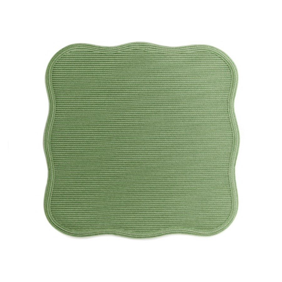 moss scalloped square placemat placemats coasters table accents tabletop. Black Bedroom Furniture Sets. Home Design Ideas