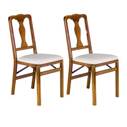 Queen Anne Back Folding Chair, Set of 2