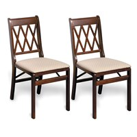 Lattice Back Folding Chair, Set of 2