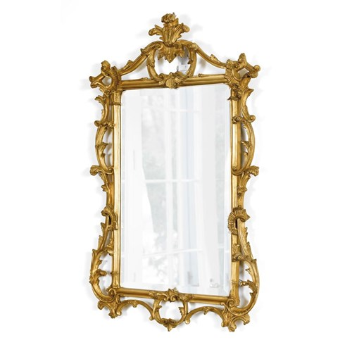 Antique Gold Leaf Regency Mirror