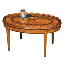 Multi Veneer Marquetry Cocktail Table