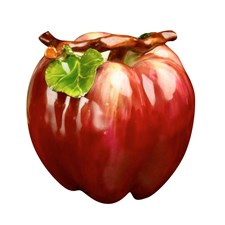 Red Upright Apple