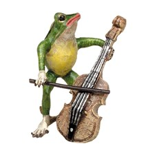 Bronze Frog with Cello